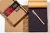 """ЭкоБлокнот с черными листами серии """"Flowers"""" + ручка"""