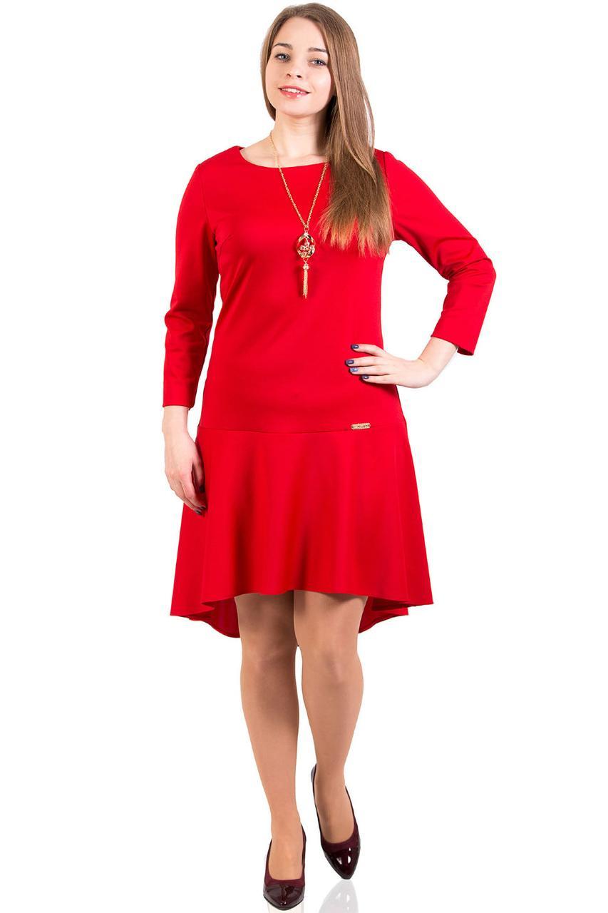 """Красное платье трикотаж с юбкой-солнце, размер 42-54 - Интернет - магазин """"MariModa"""" в Киеве"""