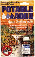 Таблетки для очистки воды Potable Aqua Water Purification Tablets 50 Tablets