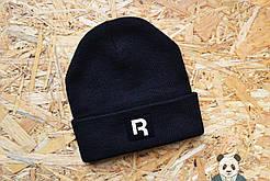 Молодежная шапка мужская рибок,Reebok черная