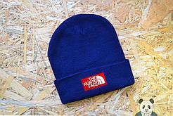 Стильная шапка мужская The North Face Beanie синяя