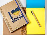 """ЭкоБлокнот с желто-синими листами """"Патріот"""" + ручка"""