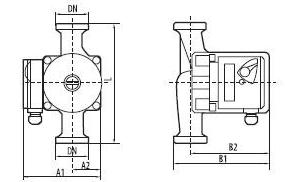 циркуляционный насос «Насосы + Оборудование» BPS 25–4S–180 размеры