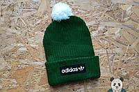 Современная яркая шапка адидас,Adidas с бубоном