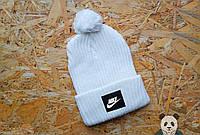 Модная белая шапка с бубоном найк,Nike
