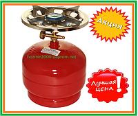 Горелка газовая с баллоном 5 л  Rudyy RK-2 Туристический 2,5 кВт горелка для рыбаков туристов