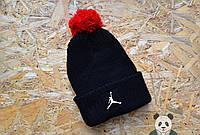 Модная мужская шапка черная с бубоном джордан,Jordan