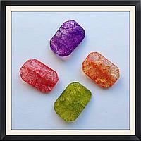 Бусины Crackle Прямоугольник витой 3,2*2,2 см