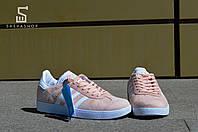 Женские кроссовки Адидас Gazelle, розовые