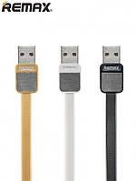 Кабель Remax Platinum RC-044M Micro USB flat, 2.1A, 1 метр, разные цвета, оригинал