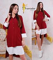 Платье двойка  Ткань барби рубашка  Можно носить по отдельности  С и М (21116)
