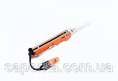 Нож туристический Ganzo (черный, оранжевый) G7452P-BK-WS, фото 2