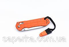 Нож туристический Ganzo (черный, оранжевый) G7452P-BK-WS, фото 3