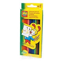 Набор цветных карандашей 12 цветов Ses