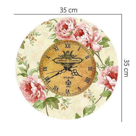 """Настенные часы """"Пионы"""" (35х35 см) [Акрил, Открытые]"""