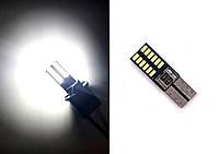 Габаритные огни LED лампочка T10, задний ход, ДХО