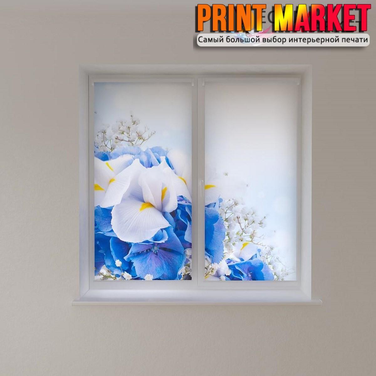Рулонные шторы с фотопечатью нежные цветы