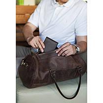 Вместительная кожаная сумка Barrel Harper Орех, фото 3