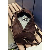 Вместительная кожаная сумка Barrel Harper Орех, фото 2
