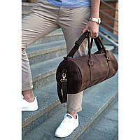 Вместительная кожаная сумка Barrel Harper Орех