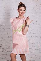 Женское летнее платье в горошек 2017 от производителя - Код пл-227