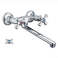 Настенный смеситель для кухни и умывальника двуручковый ZERIX ТМК722