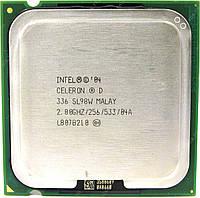 Б/У Процессор Intel Celeron D 336 2.8GHz/256K/533 s775, tray