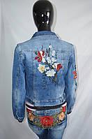 Джинсовый пиджак Evro Fashion вышивка турция
