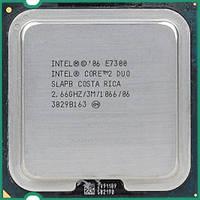 Б/У Процессор Intel Core 2 Duo E7300 2.66GHz/1066MHz/3072Kb (BX80571E7300) s775