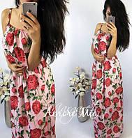 Платье. Ткань-креп-шифон(Турция). Размеры С М