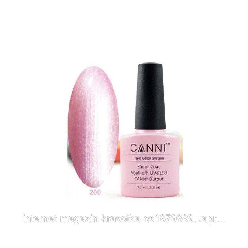 Гель-лак Canni 200 розовый перламутр