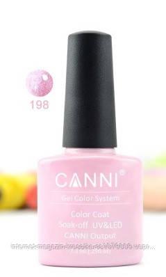 Гель-лак Canni 198 нежно-розовый перламутр