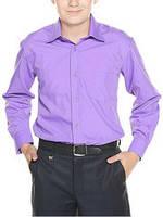 Классическая рубашка для мальчика длинный рукав сиреневая