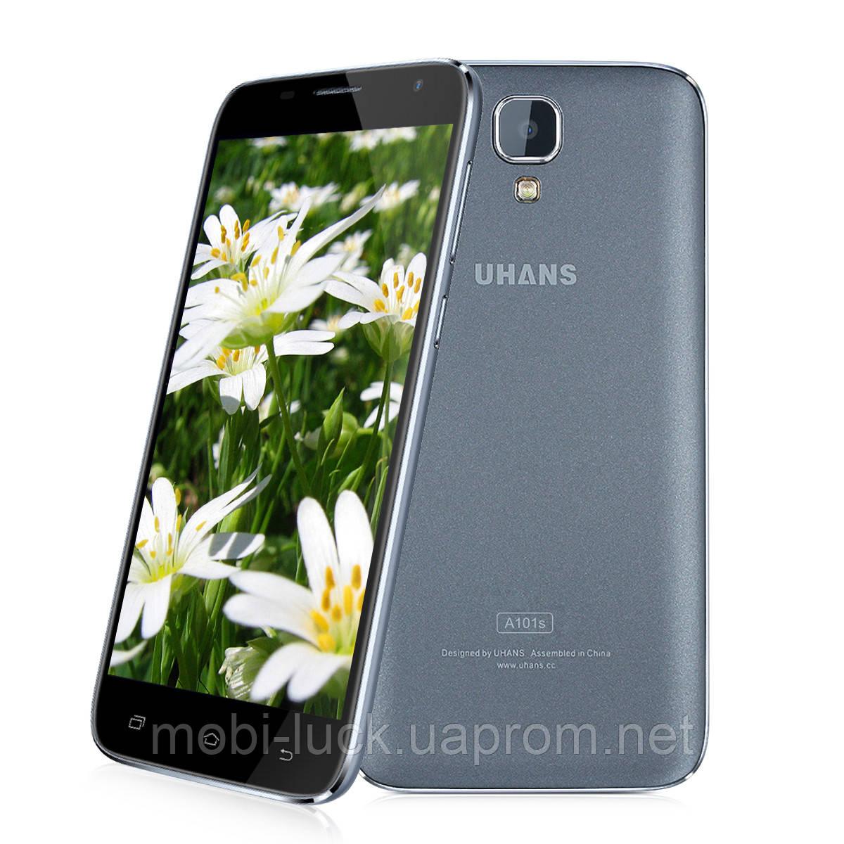 Смартфон Uhans A101S  2 сим,5 дюймов,4 ядра,16 Гб,13 Мп, 3G.