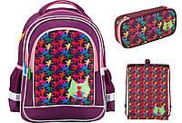 K17-509S-1 Набор школьный Kite(Рюкзак+сумка+пенал)  Catsline
