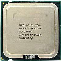 Б/У Процессор Intel Core 2 Duo E7500 2.93GHz/3MB/1066MHz (BX80571E7500) s775 Tray
