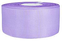 Репсовая лента сиреневая 4 см х 25 ярдов