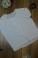 Женская летняя блуза с бусинками на плечах Италия