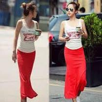 Легкая длинная юбка с разрезом макси, фото 3