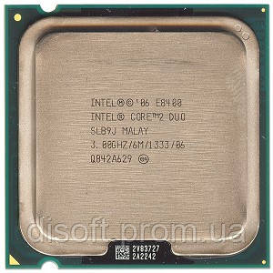 Б/У Процессор Intel Core2 Duo E8400 3.0GHz/6M/1333 s775, tray - Супер-Пупер Shop в Харькове