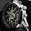 Водонепроницаемые часы скелетоны Winner TM340 Silver (металлический ремешок), фото 2