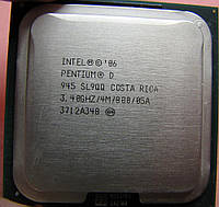 Б/У Процессор Intel Pentium D 945 3.40GHz/4M/800 s775, tray