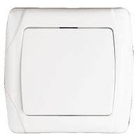 Выключатель одноклавишный 10 А белый внутренний