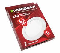 Светодиодный Led светильник встраиваемый Neomax (круг) 6W 6000K