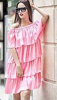 Женское платье с воланами (8 цветов)