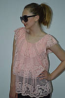 Блуза гипюровая с рюшами Италия, фото 1