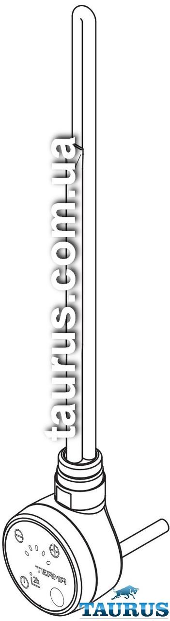 Золотой ТЭН TERMA MOA IR gold: регулятор 30-65C + таймер 2ч. + под пульт ДУ + LED + звук. Мощность: 120-1000W
