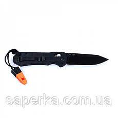 Ніж туристичний Ganzo (чорний, помаранчевий) G7453P-BK-WS, фото 2