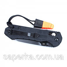 Ніж туристичний Ganzo (чорний, помаранчевий) G7453P-BK-WS, фото 3