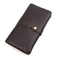 Кожаный кошелек TIDING BAG 8140C коричневый
